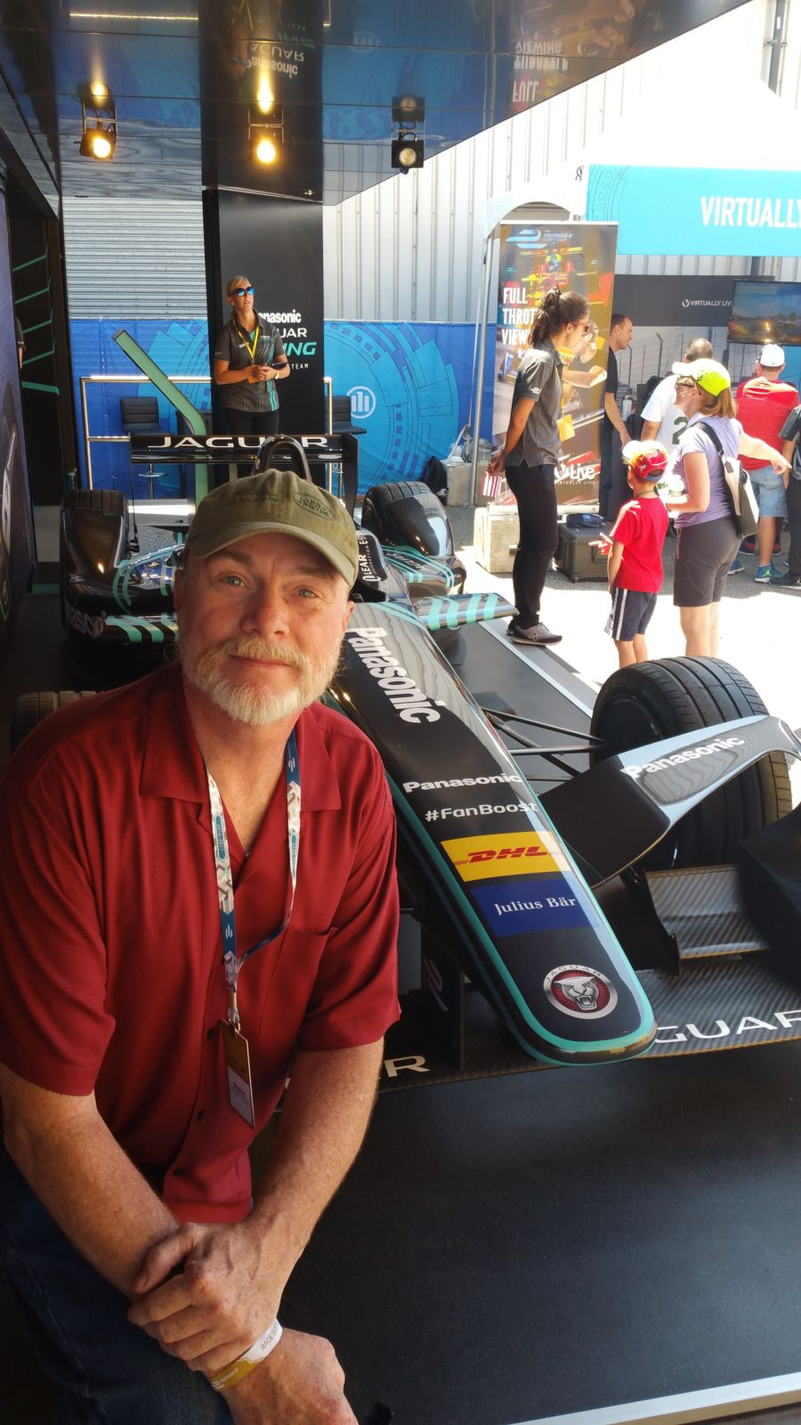 GERRY AND JAGUAR FORMULA E CAR BROOKLYN NY 07-17