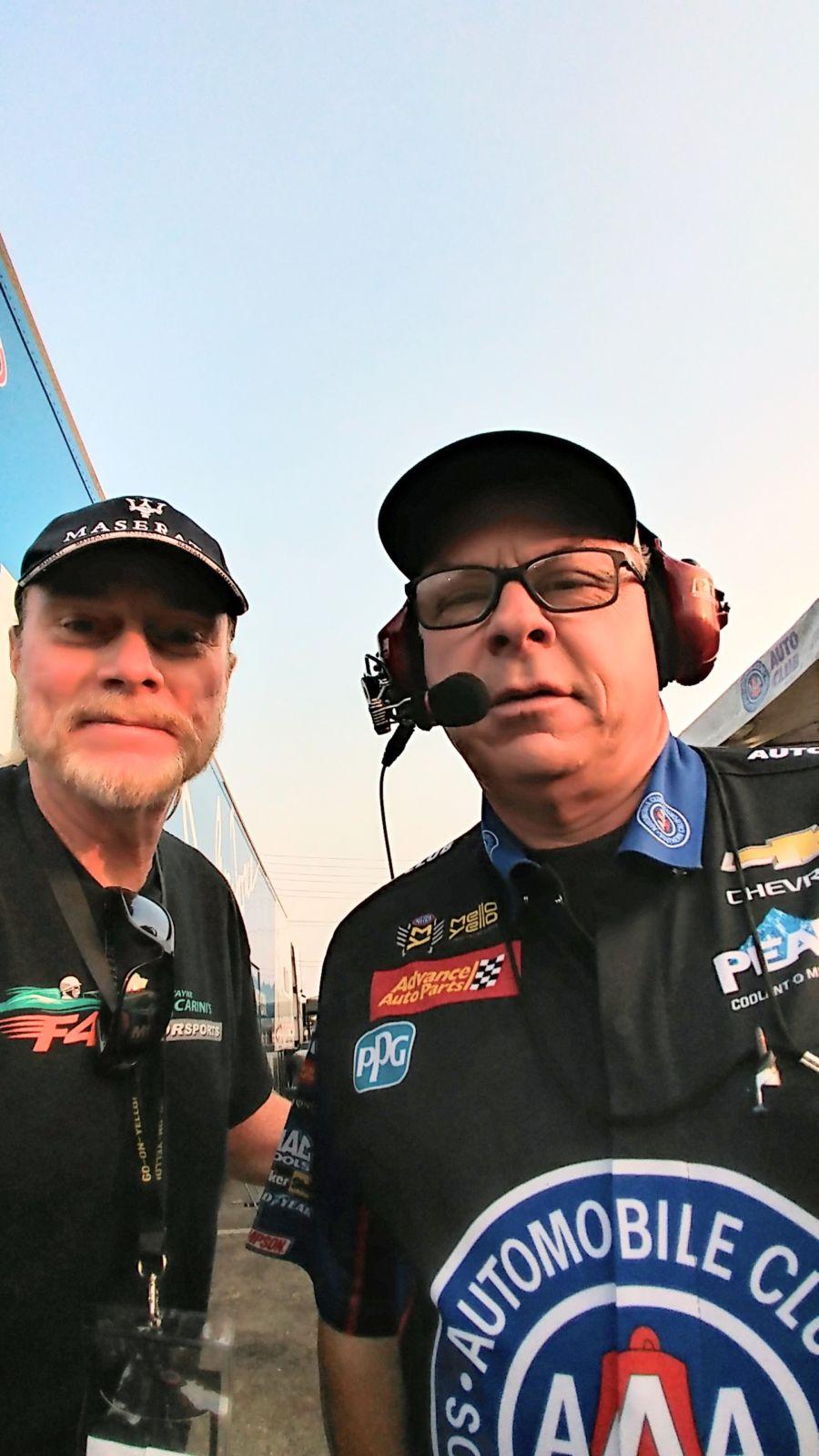 Gerry With Jimmy Prock Nhra Champion Funny Car Crew Chief Espco