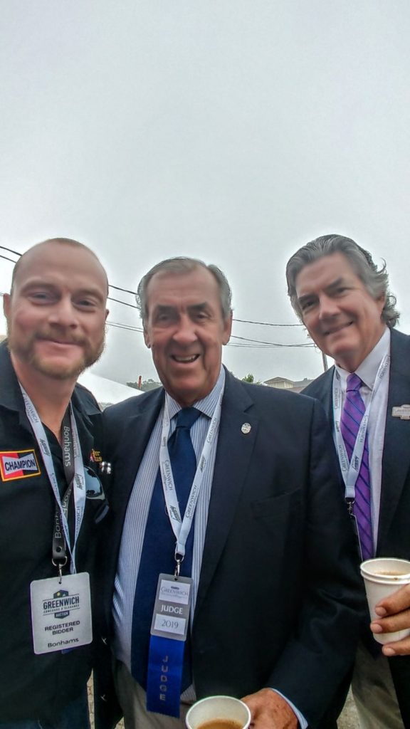 GERRY WITH DAVID HOBBS, FORMER F1 DRIVER AND BOB VARSHA, RACING ANALYST AND VOICE OF FORMULA E