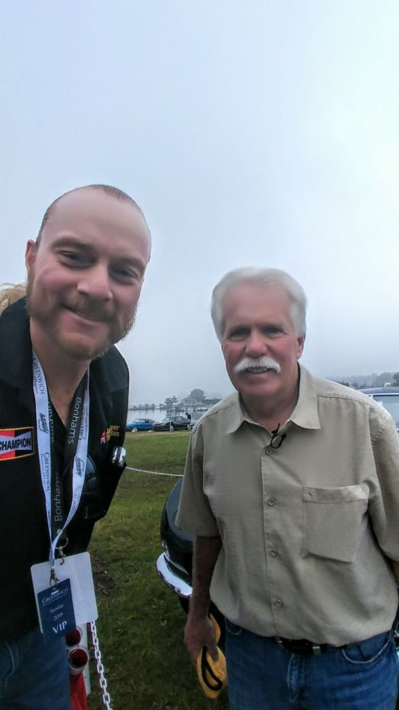 GERRY WITH WAYNE CARINI, OWNER OF F40 MOTORSPORTS IN PORTLAND, CT AND THE STAR OF THE TV SHOW, CHASING CLASSIC CARS